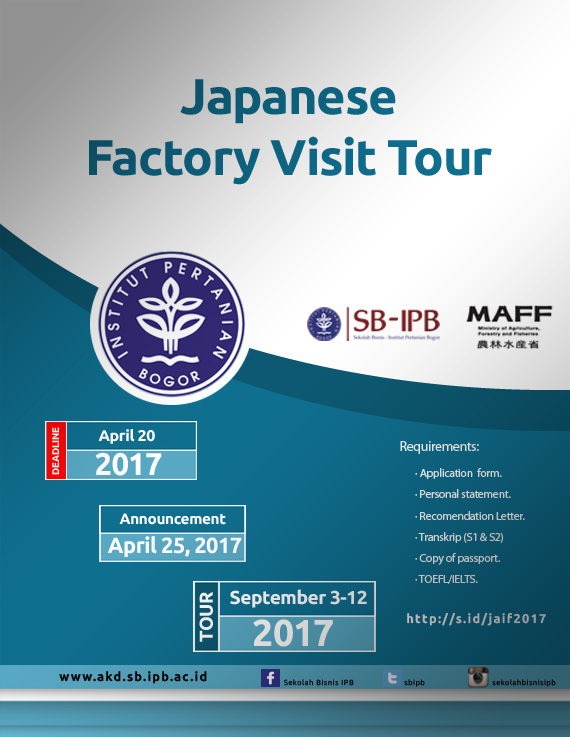 Japanese Food Industry Tours 2017