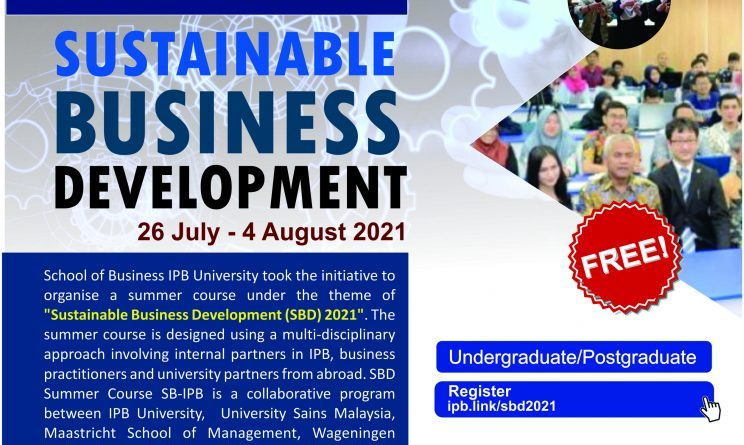 """Summer Course: """"Sustainable Business Development """""""